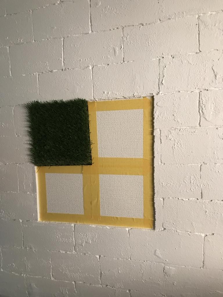 DIY・発泡スチロールレンガの壁・貼り付け