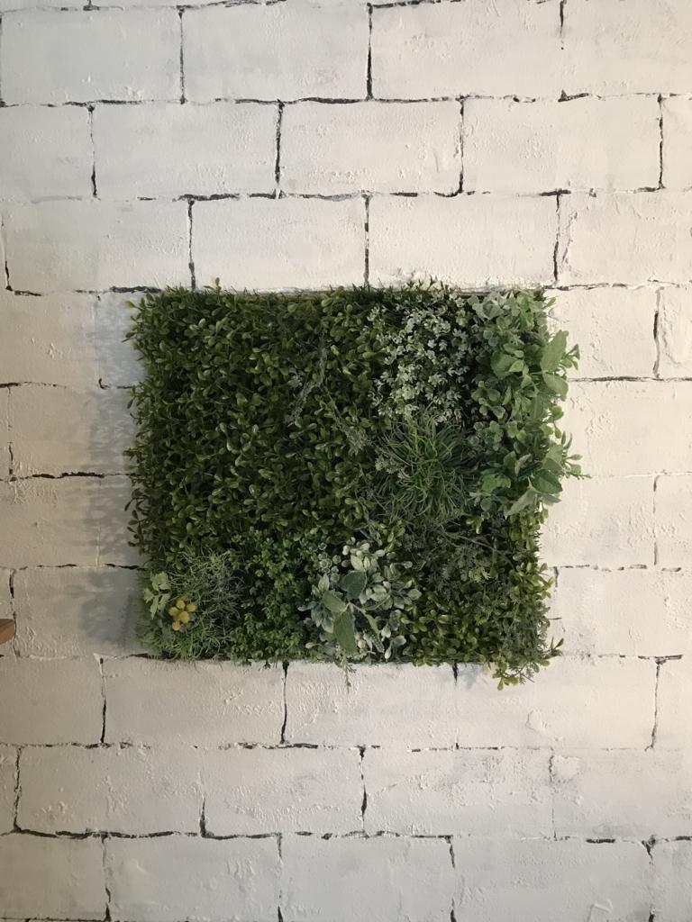 DIY 壁 100均 造草 完成2