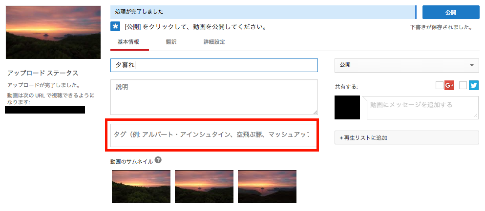 youtube SEO タグ