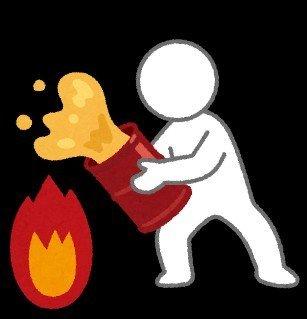 自ら燃やすの図