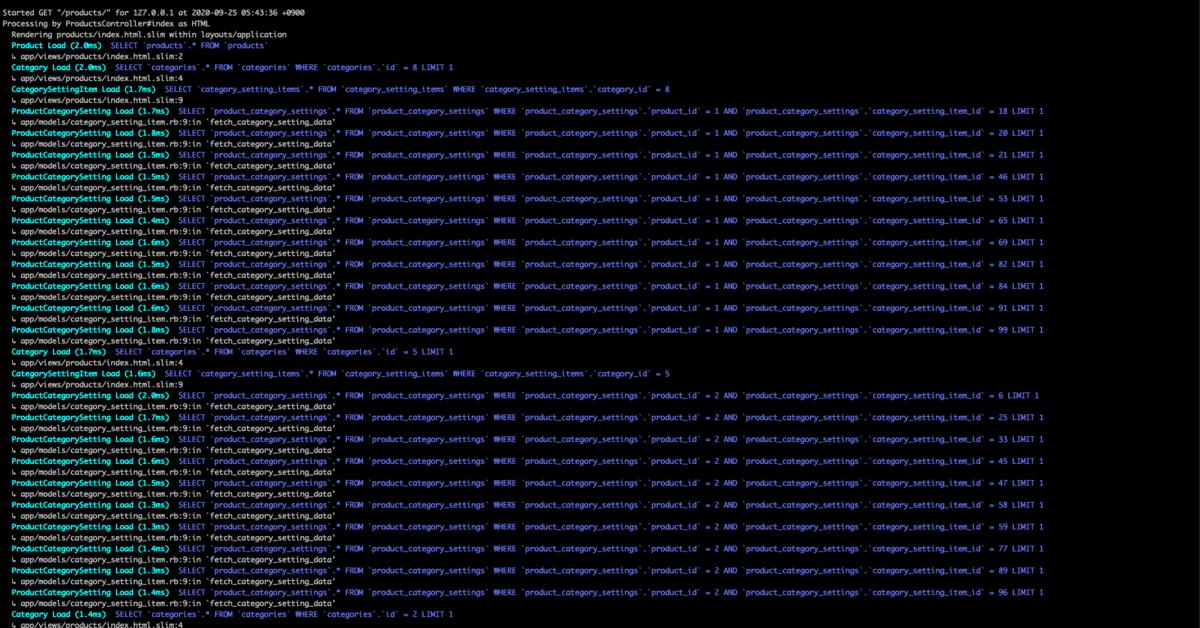 発行される大量のSQL