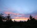 一日目の夕焼け。明日は晴れるのかしら。