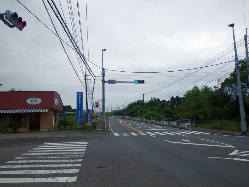 宮の下交差点(北向き)