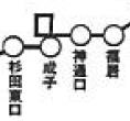 成子バス停北側に輪が描かれている(「富山地方鉄道 乗合自動車 停留所表」より)