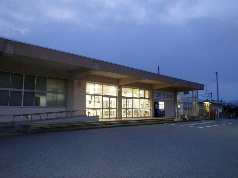 朝の生地駅