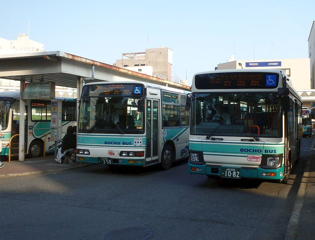 徳山駅前にて
