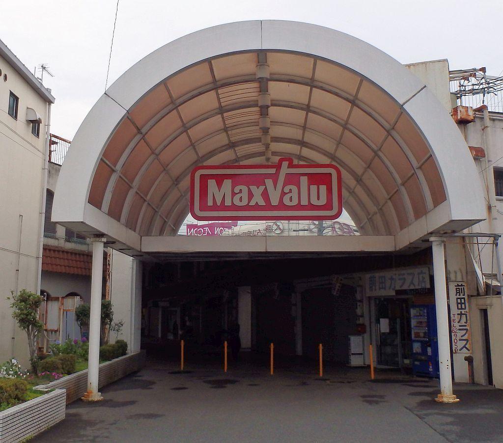 堂本バス停からマックスバリュ龍野店方面を見る