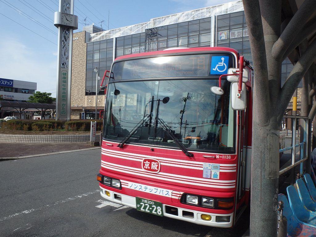 京阪交野市駅にて