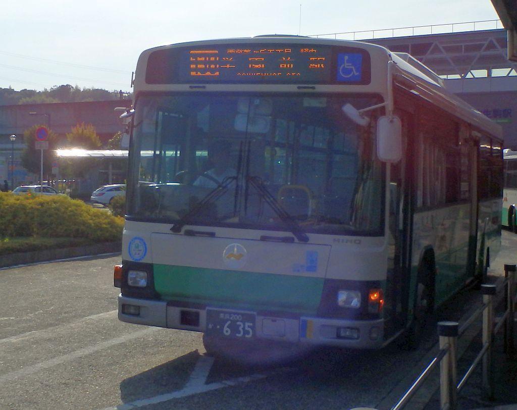 学研北生駒駅にて