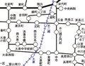 [路線図]西公文名と音羽町