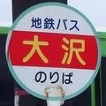 [バス停]大沢バス停