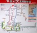[路線図]下電バス営業路線図(倉敷駅)