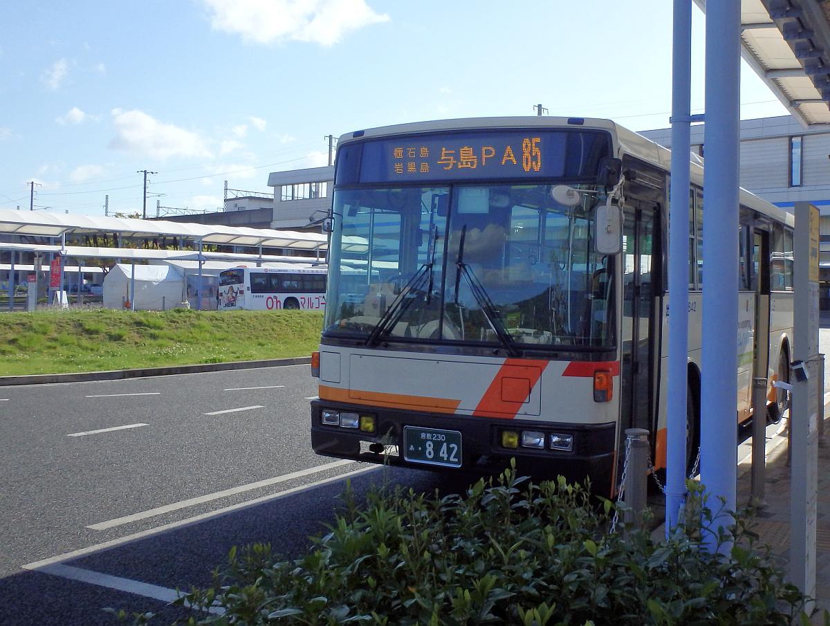 下電バス 与島第二駐車場前行