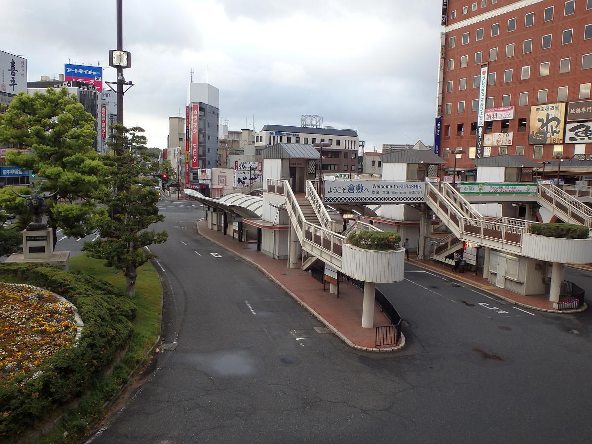 午前6時の倉敷駅南口