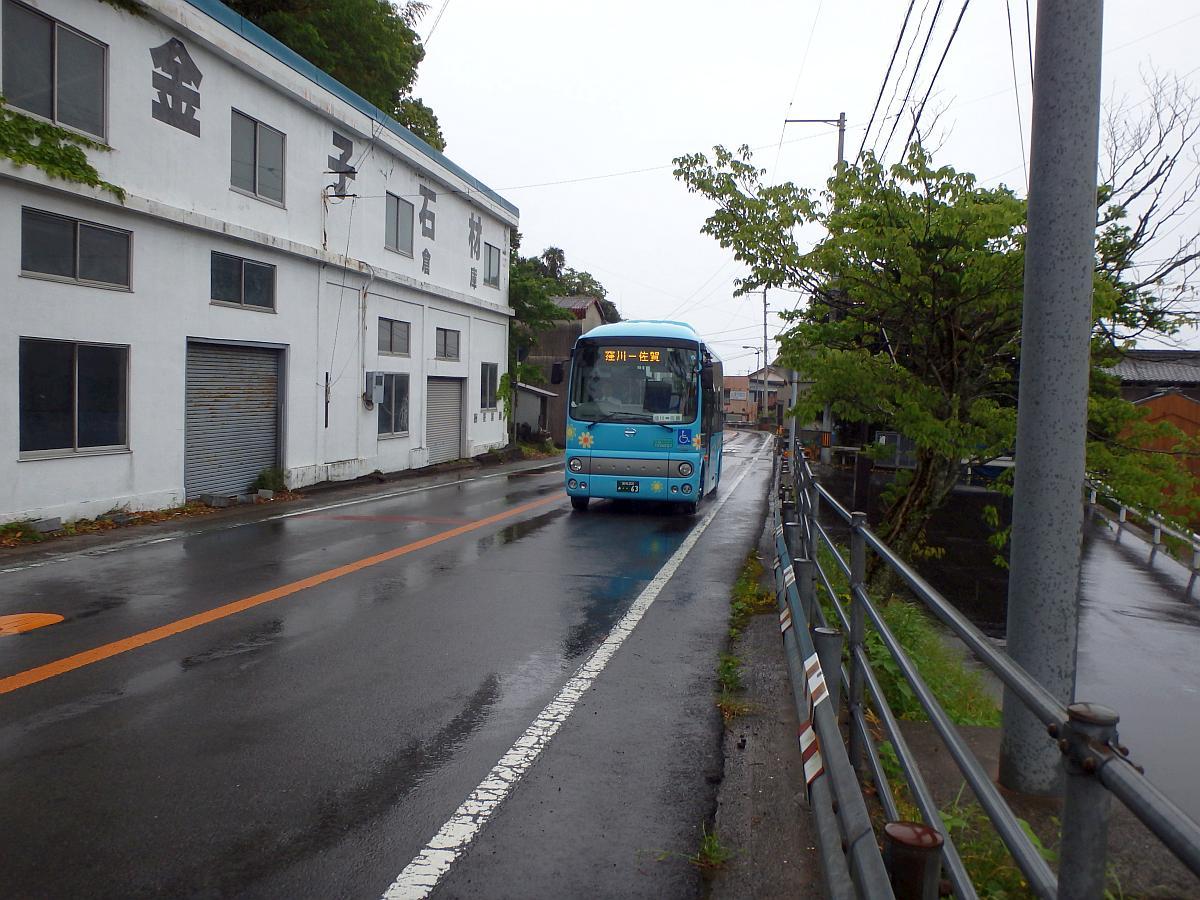 佐賀駅前にて