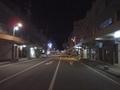 [道路][駅]夜の駒ケ根駅前通り(広小路)