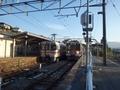 [鉄道][駅]上諏訪行と豊橋行の交換(伊那大島駅)