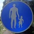 [道路][掲示]「歩行者専用」道路標識