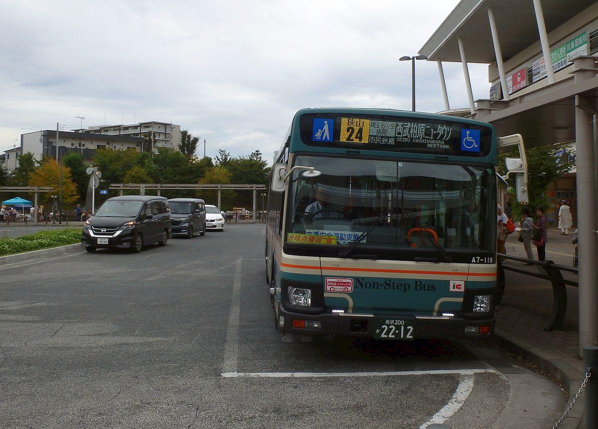 狭山市駅西口にて