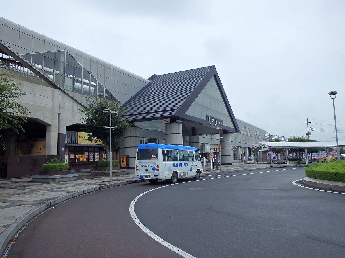 栃木駅南口に到着した大平線