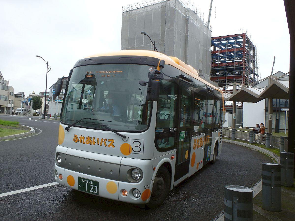 栃木駅(北口)にて