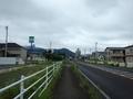 [道路]今にも雨の降りそうな国見の空模様