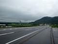 [遠景][道路]福島市方向を振り返って