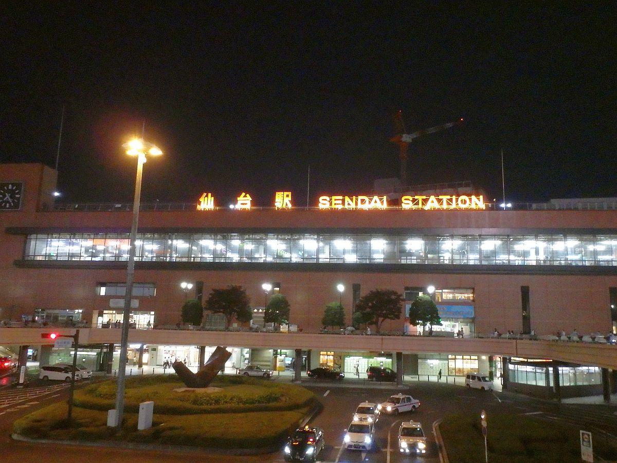夜の仙台駅西口