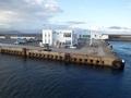 [建造物]大函丸からみた大間港ターミナル