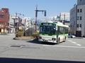 [路線バス]魚津駅前ロータリーと地鉄バス東蔵行