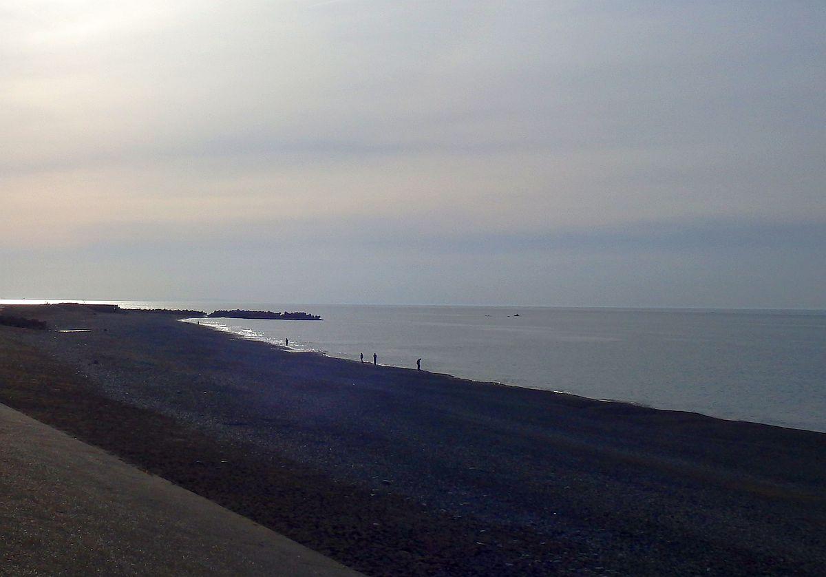 夕刻の宮崎海岸