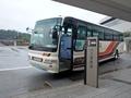 [路線バス][バス停]黒部宇奈月温泉駅停車中のアルペンライナー