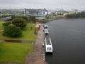 [船][遠景]天門橋から見た環水公園乗船場全景