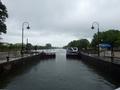 [船]中島閘門 上流側ゲート閉鎖直前