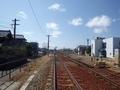 [駅]踏切から見た能町駅構内