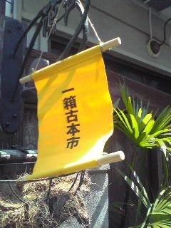 今日も一箱古本市。快晴。