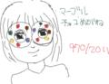2011年だから2011枚のめがねっ娘の絵を描くよ