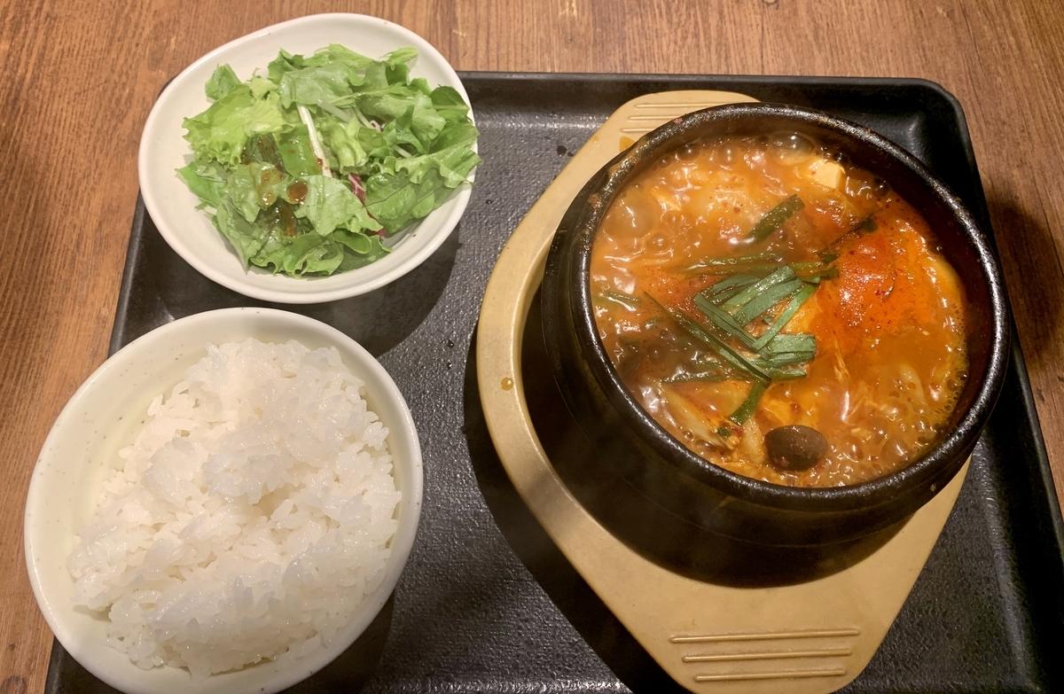和牛焼肉 土古里のホルモン純豆腐定食