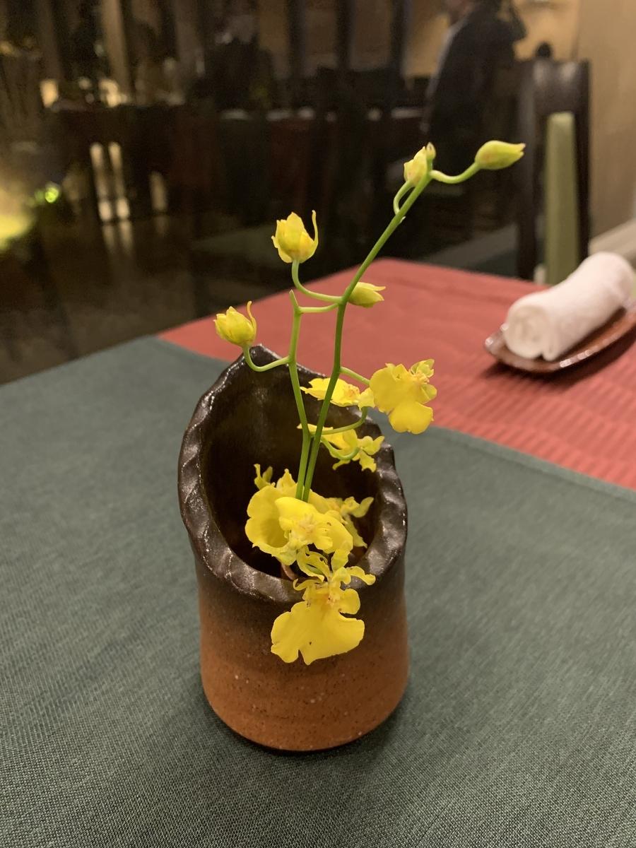 日本料理 宝寿のテーブル