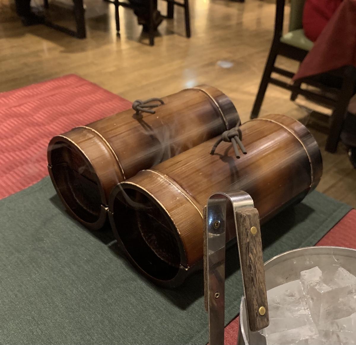 日本料理宝寿の天然水蒸し