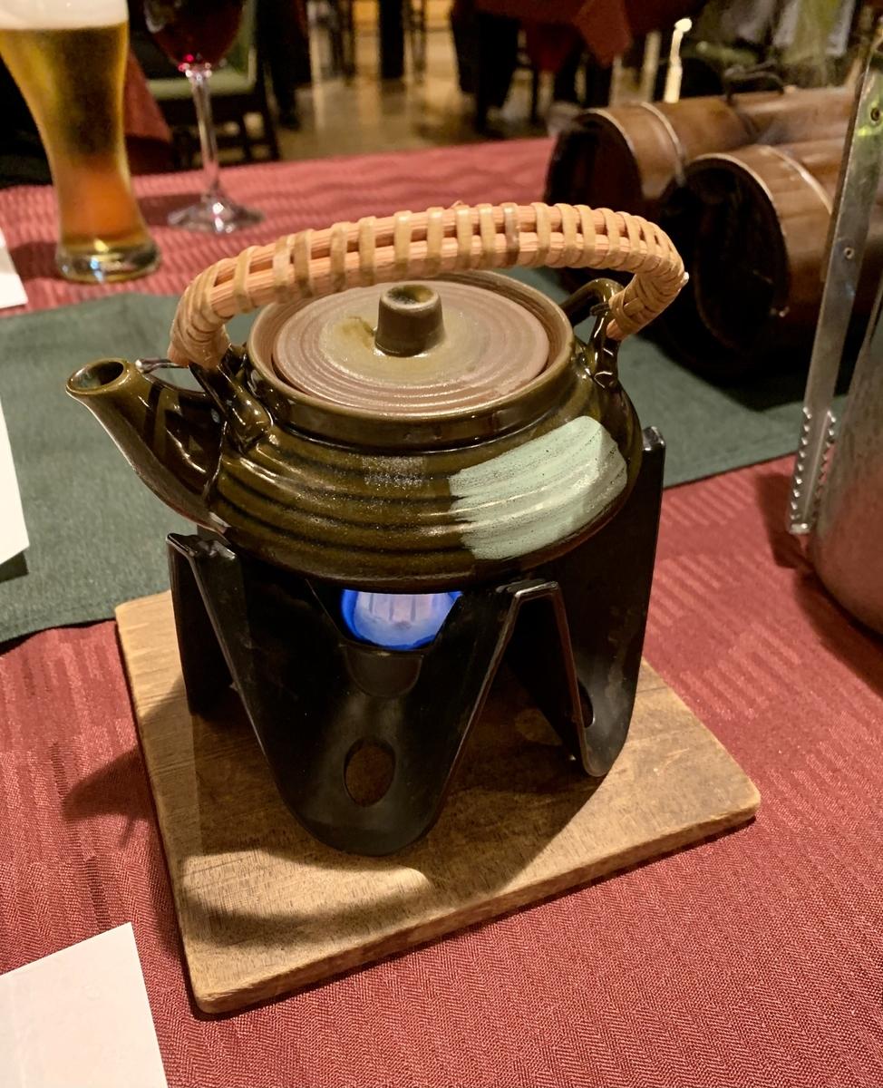 日本料理宝寿の土瓶蒸し