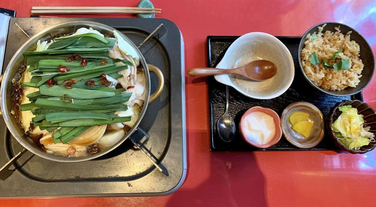 鍋と呑み処 左藤(さとう)総本店のもつ鍋御膳