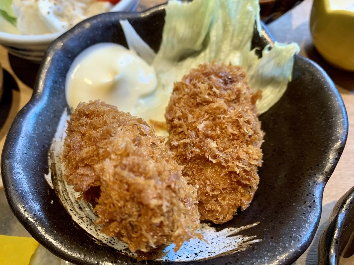 鍋と呑み処 左藤(さとう)総本店の牡蠣フライ