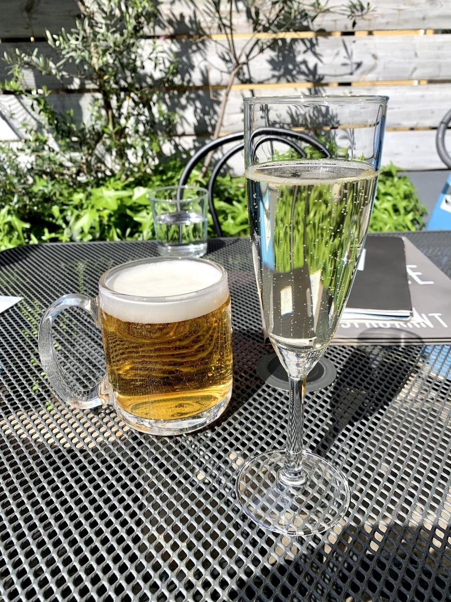 両国テラスカフェの乾杯