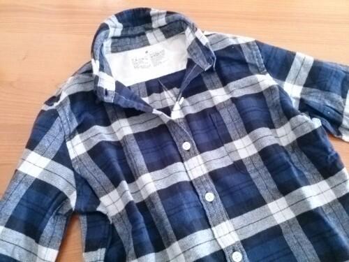 オーガニックコットンのチェックシャツ