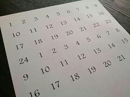 アドベントカレンダーの作り方04