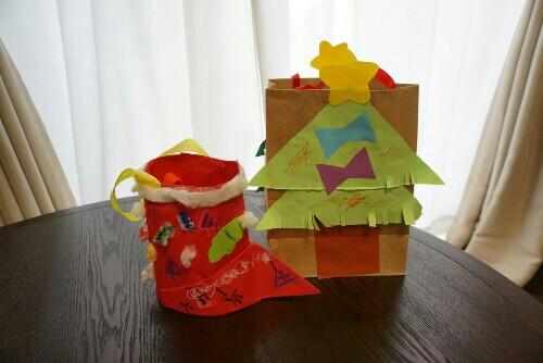 幼稚園のクリスマス作品