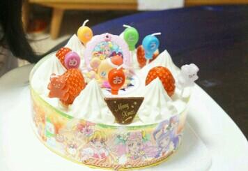 プリキュアのクリスマスケーキ