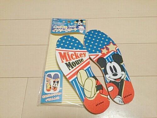 【ダイソー】ミッキーのキッズ用インソールシート
