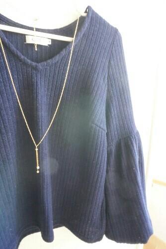 ハンドメイドネックレスと春服
